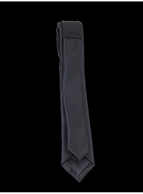 Corbata raso negro