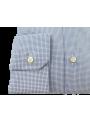 Camisa hombre vestir traje ceremonia manga larga estampado azul