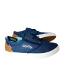 Calzado hombre zapatilla clásica sport loneta Dunlop color azul tejano
