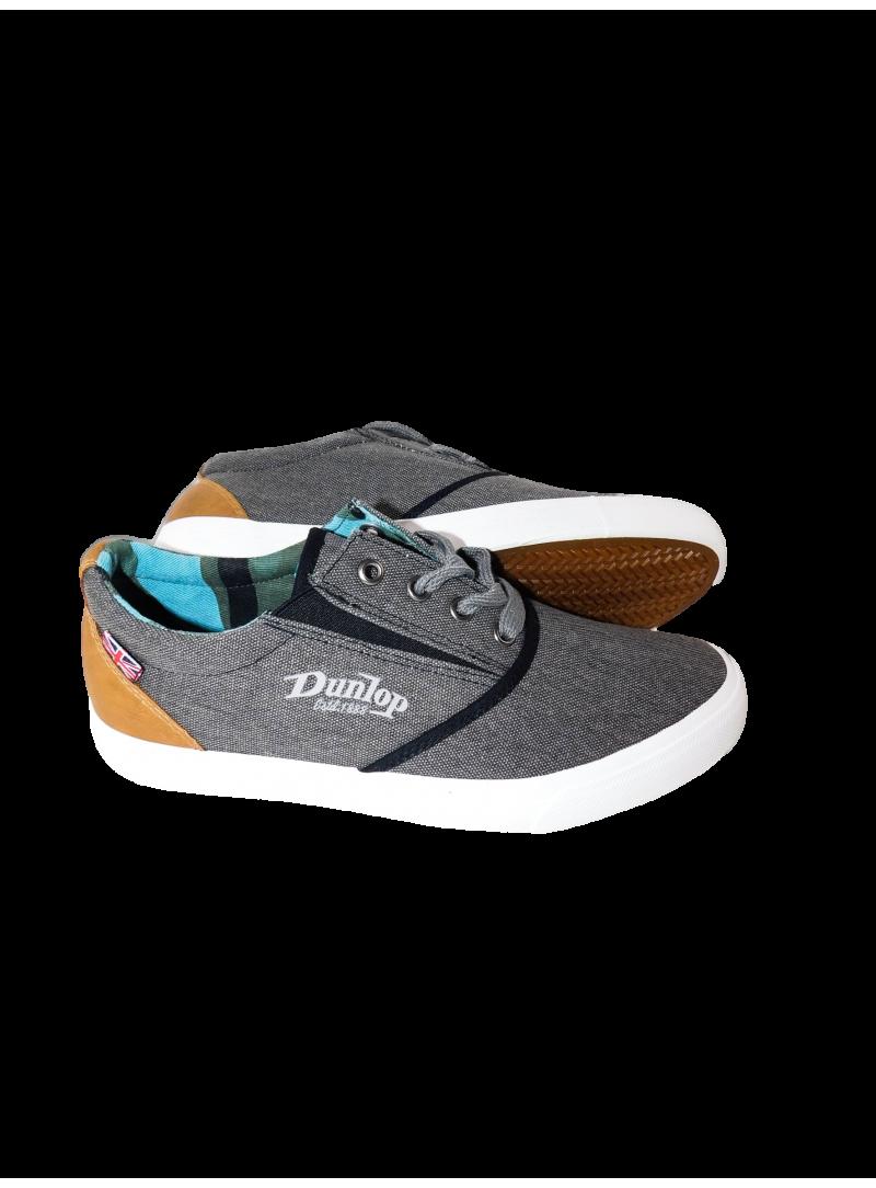Calzado hombre zapatilla clásica sport loneta Dunlop color gris