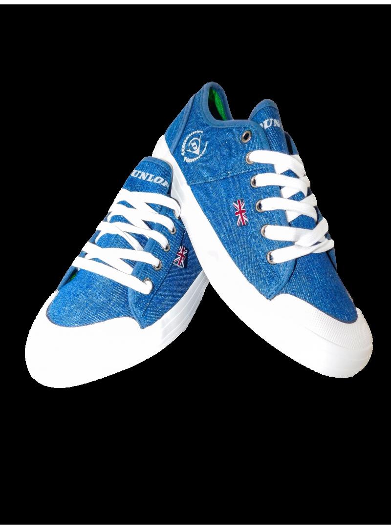 calzado hombre zapatilla loneta primavera verano cordones Dunlop color azul tejano