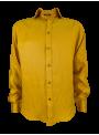 Camisa lino manga larga hombre primavera verano color mostaza