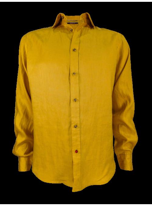Camisa slim fit lino 100%