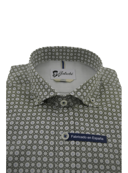 Camisa slim fit estampado...