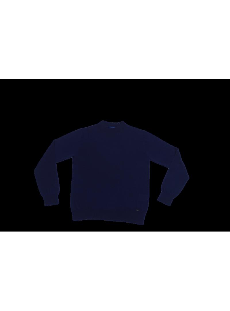 Jersey azul marino semi cisne lana merino hombre