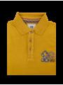 Camiseta polo manga larga hombre algodon mostaza