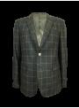 americana lana cuadros hombre verde invierno