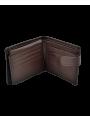 cartera billetera hombre piel monedero marron