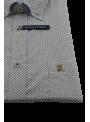 Camisa hombre manga larga primavera verano estampado con bolsillo