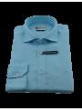 Camisa hombre lino primavera verano manga larga celeste