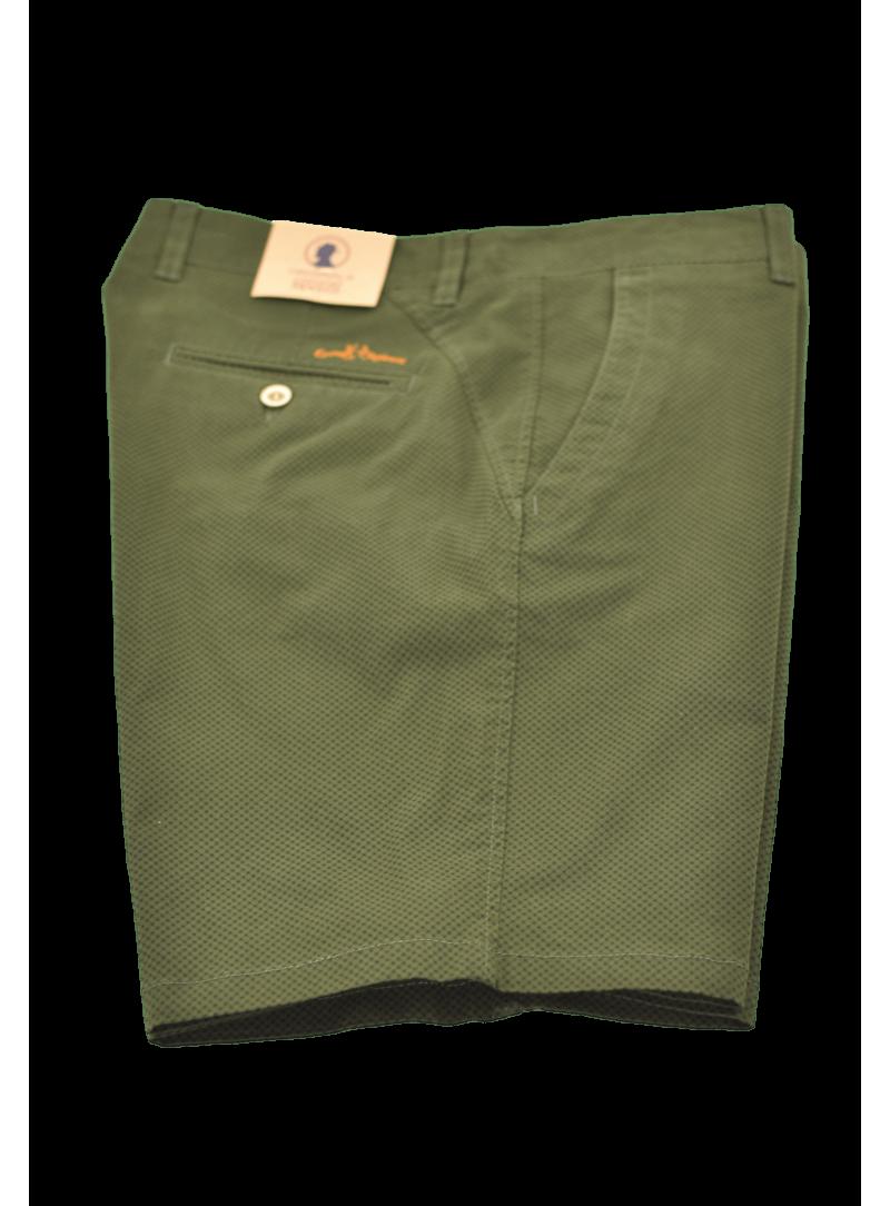 Pantalon corto bermuda algodon Coronel Tapiocca estampad verde