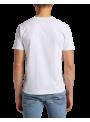 camiseta LEE manga corta blanca basica hombre algodón organico cuello redondo