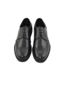 Zapato hombre vestir piel negro con detalle