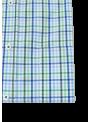 camisa hombre manga corta verano algodón estampado cuadros azul y verde