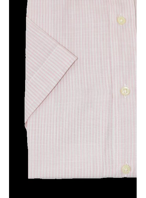 Camisa manga corta rayas rosas