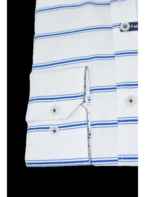 Camisa slim fit rayas azules