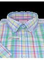 camisa hombre manga corta verano algodón estampado