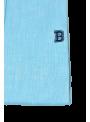 camisa hombre manga larga verano lino azul turquesa