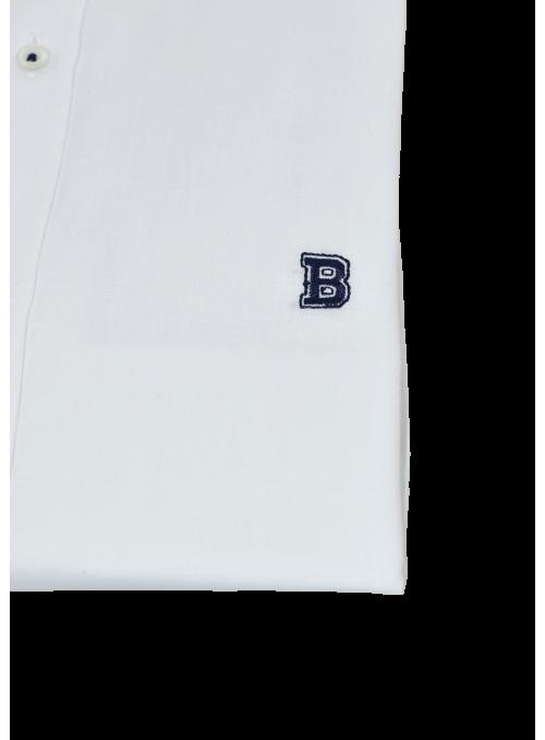 Camisa blanca algodón lino