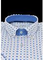 camisa hombre manga larga verano algodón La Jaca estampado retro azul