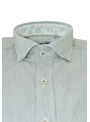 camisa hombre manga corta verano algodón estampado verde