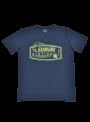 camiseta hombre manga corta azul marino estampado algodón