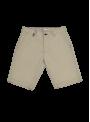 pantalón corto bermuda hombre algodón italiano beige