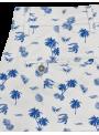 pantalón corto bermuda hombre verano algodón estampado palmeras azul