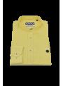 camisa hombre manga larga verano cuello mao lino amarillo