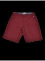 pantalón corto bermuda hombre algodón verano granate