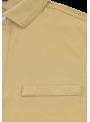 camiseta polo tejido bambú manga corta hombre verano beige