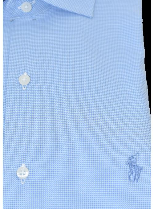 Camisa vestir vichy azul...