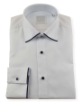 Camisa hombre alta calidad vestir traje ceremonia blanca regular fit algodon primavera verano
